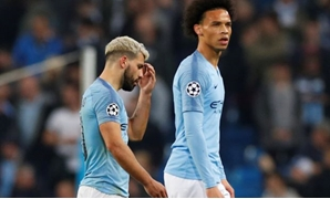 FILE PHOTO: Soccer Football - Champions League Quarter Final Second Leg - Manchester City v Tottenham Hotspur - Etihad Stadium, Manchester, Britain - April 17, 2019 Manchester City's Sergio Aguero and Leroy Sane react after the match REUTERS/Phil Noble