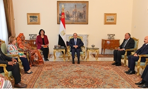 President Abdel Fatah al-Sisi received the African Commission on Human and peoples' Rights (ACHPR) delegation in Cairo Monday,