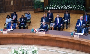 President Abdel Fatah al-Sisi chairing the African summit on Sudan in Cairo, Egypt. April 23, 2019. Press Photo