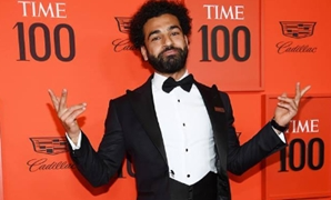 File- Mohamed Salah attend Time 100 Gala