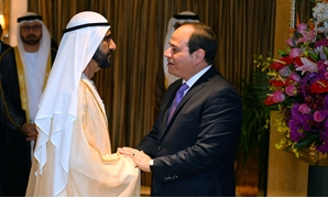 President Abdel Fatah al-Sisi held a meeting with Vice President of the United Arab Emirates and ruler of the Emirate of Dubai Mohammed bin Rashid Al Maktoum in Beijing, on the sidelines of the 2ndBelt and Road Forum on Thursday, April 25, 2019- Press pho