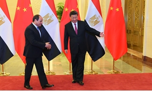 President Abdel Fatah al-Sisi held a meeting Chinese counterpart Xi Jinping in Beijing, on the sidelines of the 2nd Belt and Road Forum on Thursday, April 25, 2019- Press photo