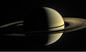 This was Cassini's view from orbit around Saturn on Jan. 2, 2010- NASA