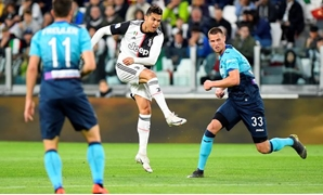 Ronaldo during the game against Atalanta, Reuters