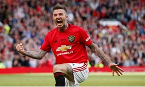 David Beckham during the game, Reuters