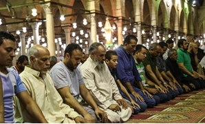 Worshipers perform Taraweeh prayer in Amr Ibn al-As Mosque - File photos