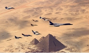 French Rafale flying over Giza Pyramids - Creative Commons Via Wikimedia