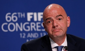 Infantino listens to a journalist's questions during a news conference after the 66th FIFA Congress in Mexico City, Mexico, May 13, 2016. REUTERS/Henry ...
