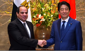 FILE- President Abdel Fattah El Sisi met with Japan's Prime Minister Shinzō Abe ON February 29, 2016 in Japan- Press photo