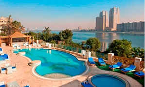 Cheer up your favorite team with your friends in an incredible surrounding at The Terrace on pool deck overlooking the Nile at Hilton Cairo Zamalek