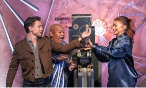 FILE Photo - Actors (L-R) Tom Holland, Jacob Batalon, and Zendaya take part in a ceremony to light the top of the Empire State Building to promote their new film - Reuters/Lucas Jackson