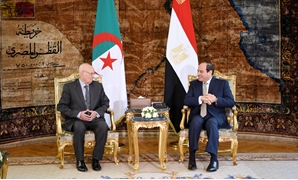 Egyptian President Abdel Fattah al-Sisi (R) meets with Algerian interim President Abdelkader Bensalah in Cairo, July 18, 2019 - Press photo