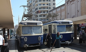 Blue-line trams, Raml Station, Alexandria, Egypt - CC via Wikimedia Commons/Roland Unger
