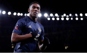 FILE PHOTO: Soccer Football - FA Cup Fourth Round - Arsenal v Manchester United - Emirates Stadium, London, Britain - January 25, 2019. Manchester United's Anthony Martial celebrates scoring their third goal. Action Images via Reuters/Matthew...MORE
