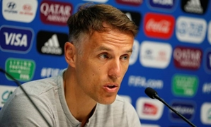 FILE PHOTO: Soccer Football - Women's World Cup - Quarter Final - England v Norway - England Press Conference - Stade Oceane, Le Havre, France - June 26, 2019 England manager Phil Neville during the press conference REUTERS/Bernadett Szabo