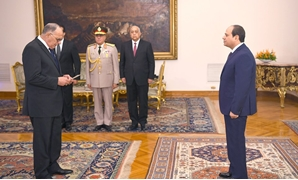President Sisi attends inauguration of State Lawsuits Authority new head Abu Bakr Al-Seddiq Amer - Press photo
