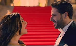 File - Mohamed Hamaki and Donia Samir Ghanem.