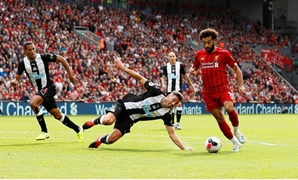 Liverpool's Mo Salah scored their third goal despite going behind to Newcastle. (Reuters)