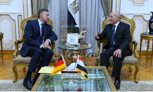 State Minister for Military Production Mohamed el-Assar discussed with the newly-appointed German ambassador to Cairo issues of mutual cooperation between the two countries - Press photo