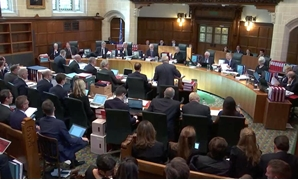 A general view of UK Supreme Court hearing in London, Britain September 17, 2019 in this screen grab taken from video. Supreme Court Feed via REUTERS THIS IMAGE HAS BEEN SUPPLIED BY A THIRD PARTY.