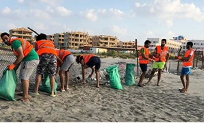 The volunteers carried out a beach clean-up campaign in a beach in the city of Baltim, where plastic were collected in as many as 25 sacks - Courtesy of Youth Loves Egypt organization