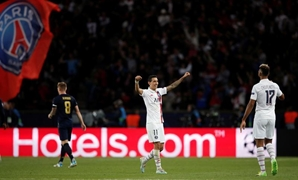 Di Maria celebrates his team's victory, REUTERS/Benoit Tessier
