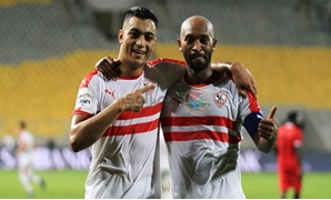 File- Zamalek's Shikabala and Mostafa Mohamed