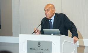 MagdiYacoub delivers a speech at a ceremony for launching his new campaign - Press photo