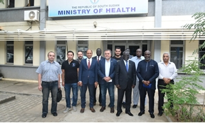 The team of Egyptian doctors- press photo