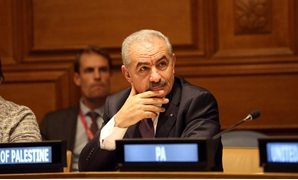 Palestinian Prime Minister Mohammad Shtayyeh During AHLC meeting at UNGA2019- photo courtesy of his Twitter account