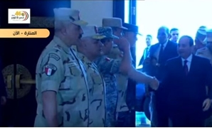President Abdel Fattah al-Sisi on Sunday arrived at Al-Manara International Conference Center to attend the 31st educational seminar of the Armed Forces - Screenshot