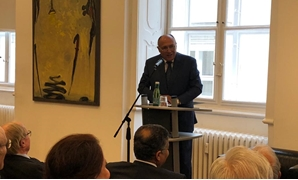 "Shoukry was delivering a speech on Monday during a lecture titled ""Foreign Policy of Egypt"" at the Foreign Policy and United Nations Association of Austria (UNA-Austria- press photo"