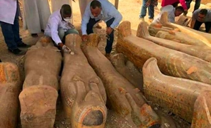Part of the dazzling ancient Egyptian coffins discovered in El-Assasif - ET