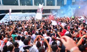 Zamalek fans chant for their handball team - FILE