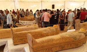 File - 30 coffins discovered at Assasif necropolis in Luxor.