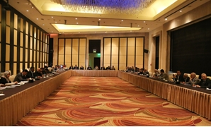 Libyan lawmakers meeting in Egypt - press photo