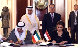 Prime Minister Mostafa Madbouly on Monday along with his Kuwaiti counterpart Sheikh Jaber Al-Mubarak has witnessed the signing of a number of agreements of cooperation between the two countries - Courtesy of the Egyptian Cabinet