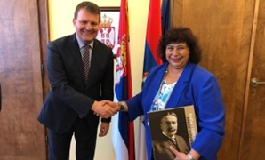 Egypt's Culture Min., Vojvodina's PM, Discuss Cultural Relations Btn Egypt, Serbia - Press Photo