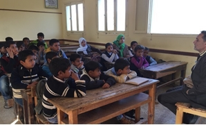 Students of a primary school in North Sinai - Egypt Today/Mohamed Hussein