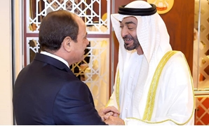 Abu Dhabi crown prince received Sisi on Wednesday to start his official visit – Courtesy of the Egyptian Presidency