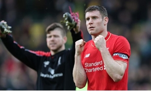 Liverpool's James Milner celebrates at the end of the match Action Images via Reuters / Alex Morton