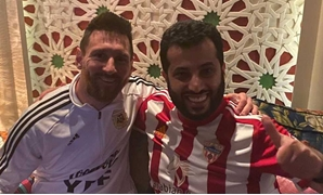 Turki Al-Sheikh with Lionel Messi - FILE