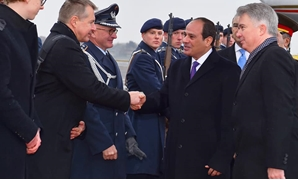 Sisi arrived in Berlin on Sunday to participate in the high-level dialogue of CwA - Courtesy of the Presidency
