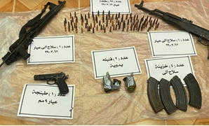 Weapons seized from terrorist elements in North Sinai - Press photo