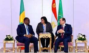 President Abdel Fattah el-Sisi meets with Senegalese President Macky Sall on the sidelines of the Aswan Forum for Sustainable Peace and Development held in Egypt – Courtesy of the Egyptian Presidency