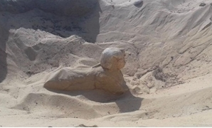 File - The newly uncovered sphinx.