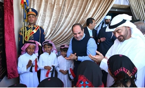 Sisi on Thursday hailed the deep relations between Egypt and the United Arab Emirates as he, along with Abu Dhabi Crown Prince Mohamed bin Zayed attended the opening of the camel racing festival in Egypt's South Sinai - Press photo