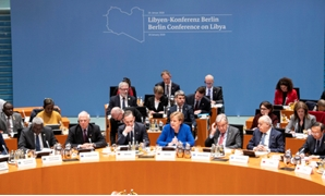 European Union's Foreign Policy Chief Josep Borrell, German Foreign Minister Heiko Maas, German Chancellor Angela Merkel, United Nations Secretary-General Antonio Guterres and U.N. Envoy for Libya, Ghassan Salame attend the Libya summit in Berlin, Germany