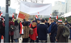 The Egyptian community in London gather to support Sisi