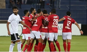 File- Al-Ahly players celebrate scoring a goal, poto courtesy of CAF Official Website